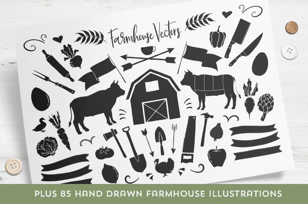 Buttermilk Farmhouse Typeface 3