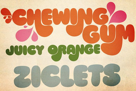 Bold 1970s Style Fonts