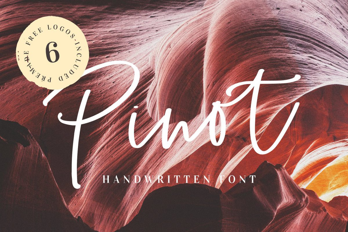 Pinot Handwritten Font and Logos
