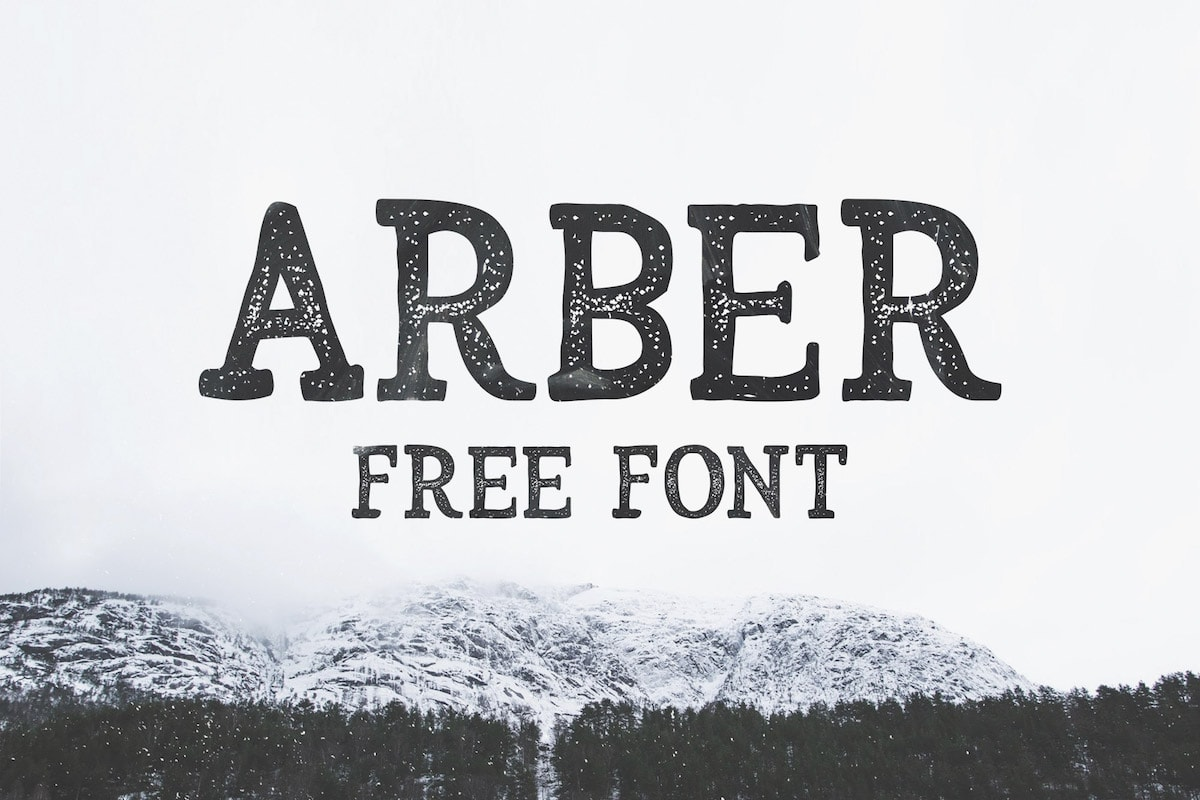 Arber Free Hand Drawn Vintage Typeface Hipfonts
