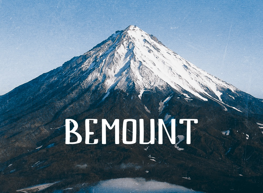 Bemount Free Handwriting Font