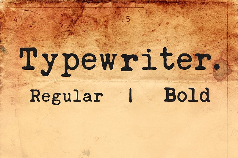 Typewriter Fonts
