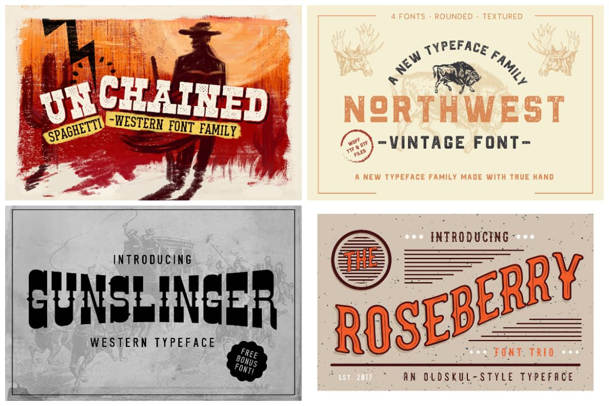 Western Styled Fonts