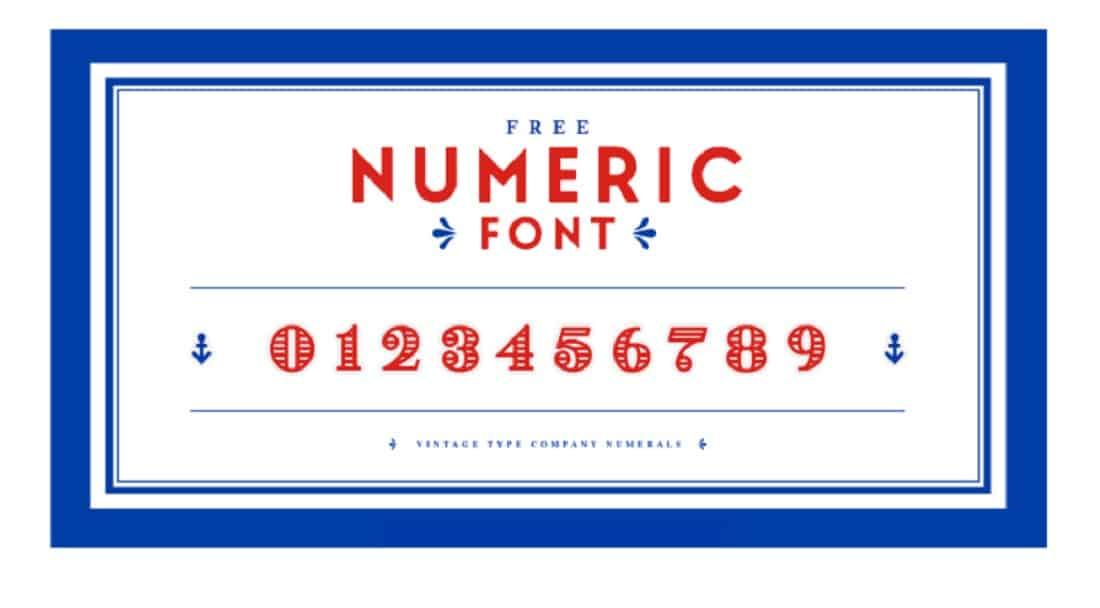 FREE Numeric Font