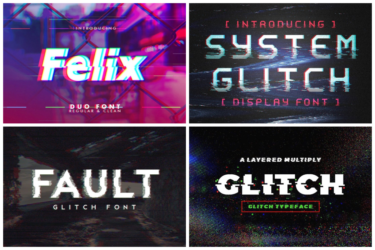 10 Glitch Fonts That Will Help You Step Into the Future | HipFonts
