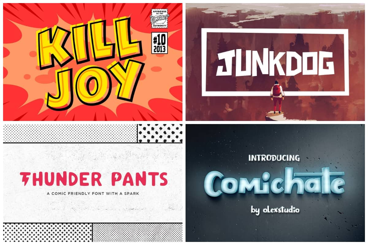 10 Comic Book Fonts For Creating The World S Best Comic Strips Hipfonts