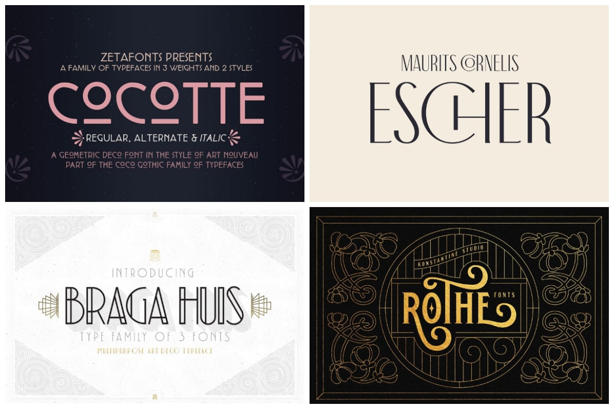 15 Art Nouveau Fonts For Truly Elegant Designs Hipfonts