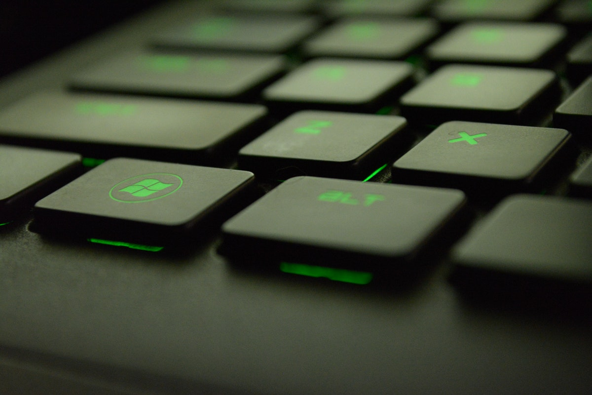 Green Windows Keyboard