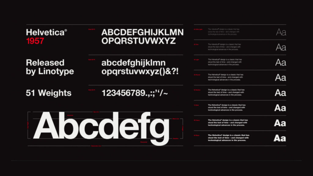 Helvetica Type Preview