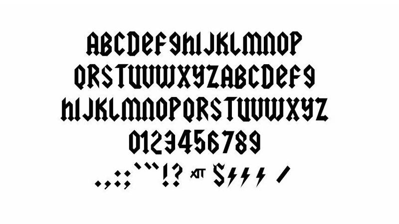 AcDc Font Family Download