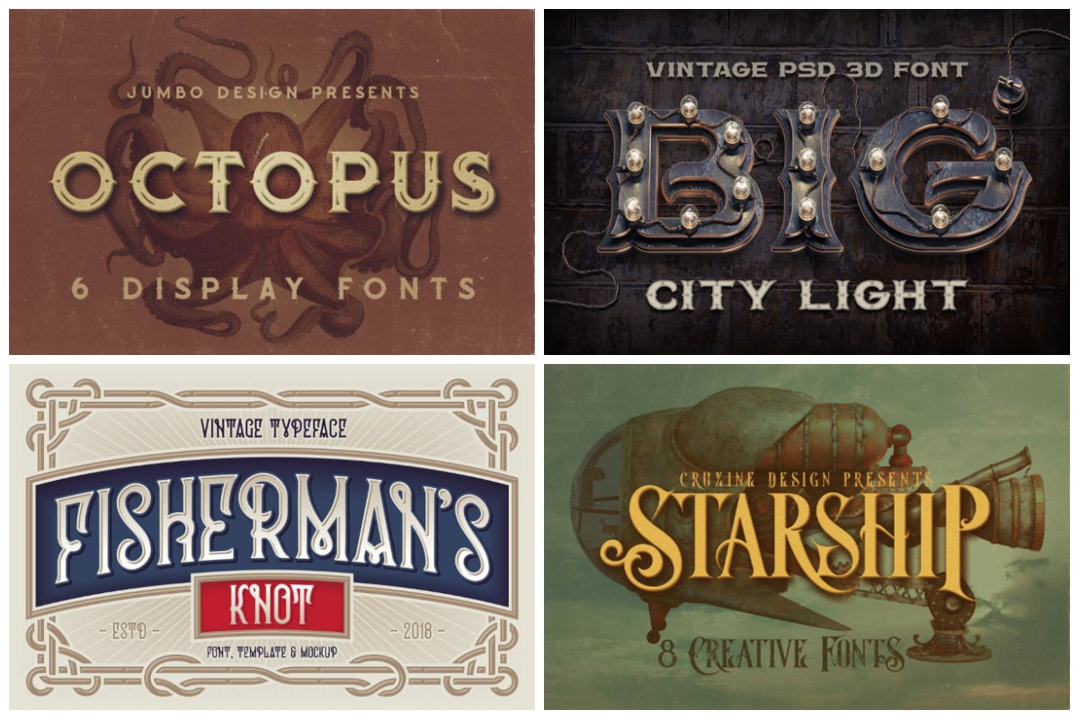 Steampunk Fonts cover min