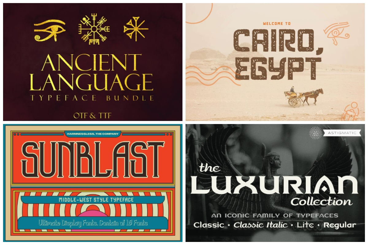 Egyptian Fonts cover min