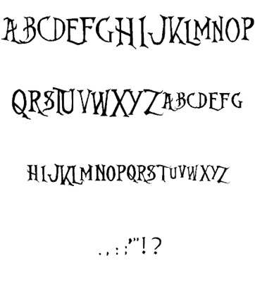Nightmare Before Christmas font 2