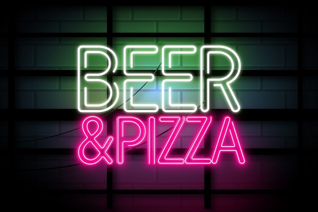 Beer and Pizza min