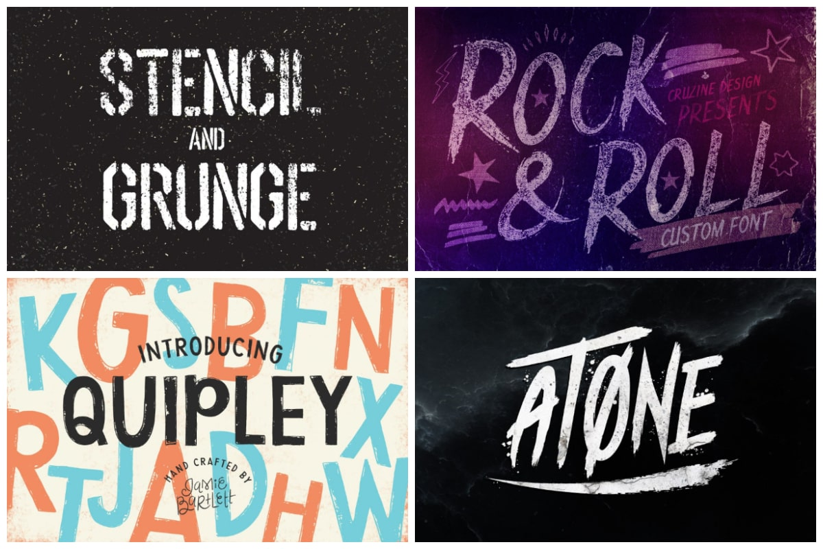 Grunge fonts cover min