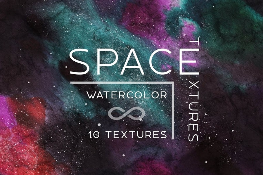 10 Watercolor space backgrounds min