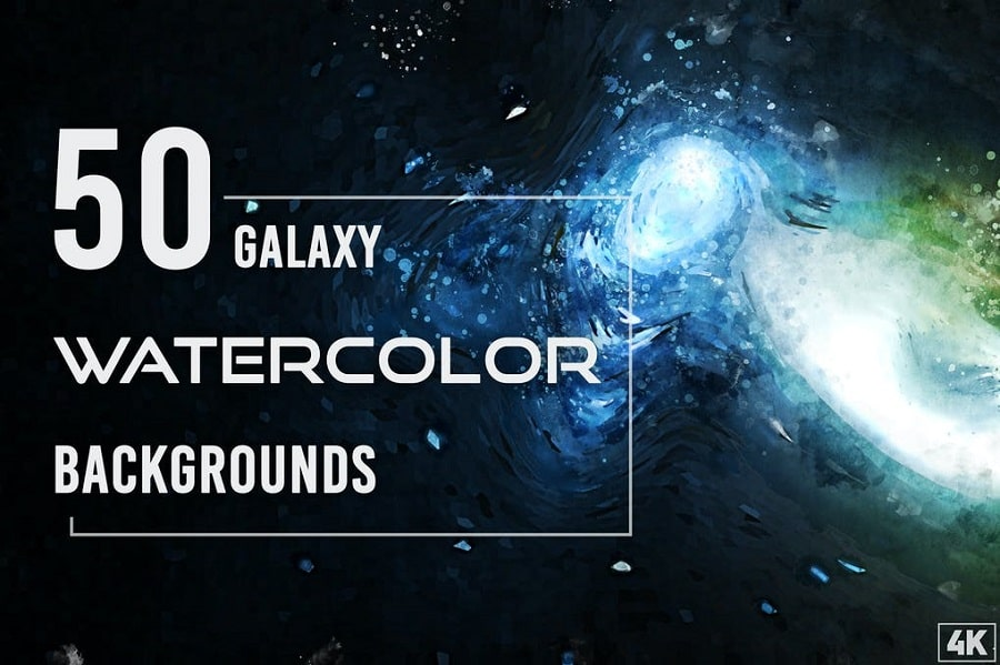 50 Watercolor Galaxy Backgrounds min