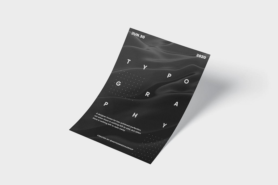Abstract Typography Poster 1