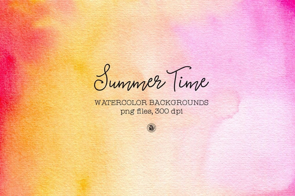 Summer Time Watercolor min