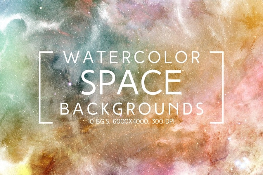 Watercolor Space Backgrounds min