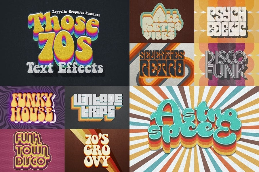 70s Retro Text Effects min