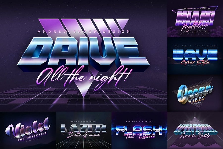 80s Style Text Effects min