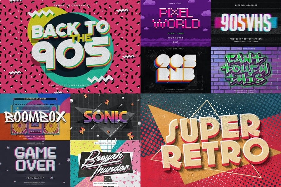 90s Text Effects min