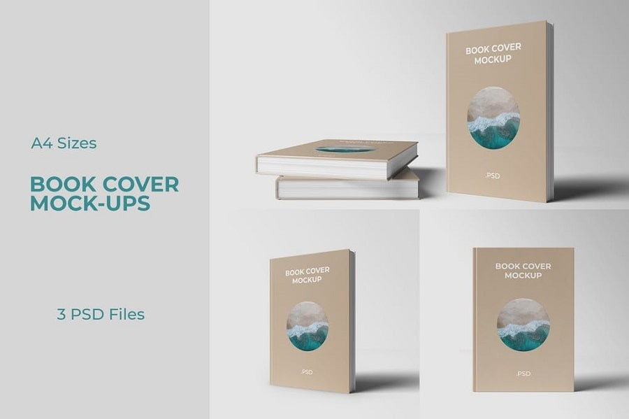 Book Cover Mockup Front View min