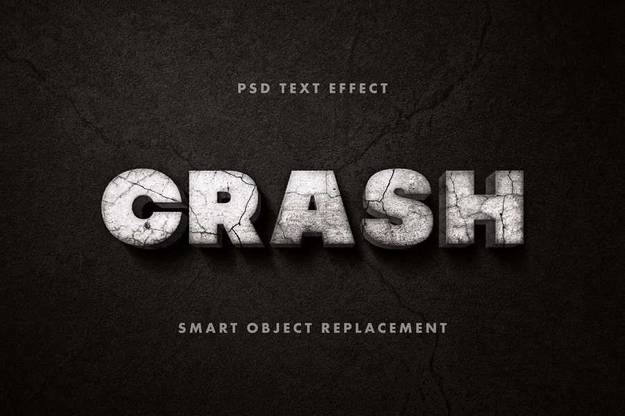 Crashed Text Effect min