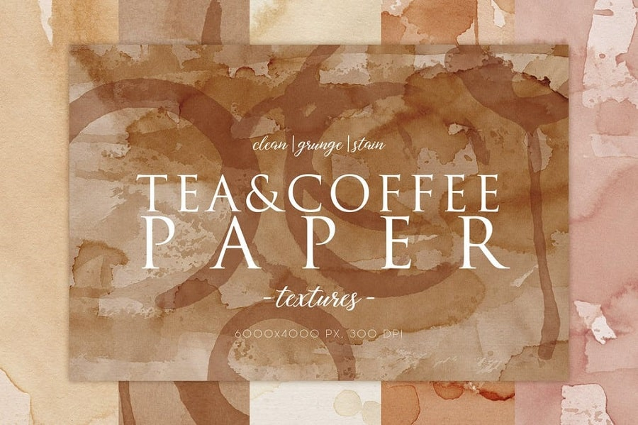 15 Coffee Stain Paper Textures min