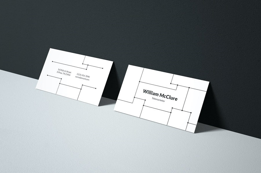 Business Card lines min