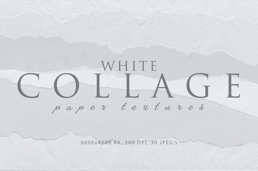 Collage White Paper Textures min