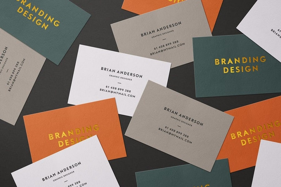 Scattered Business Cards min