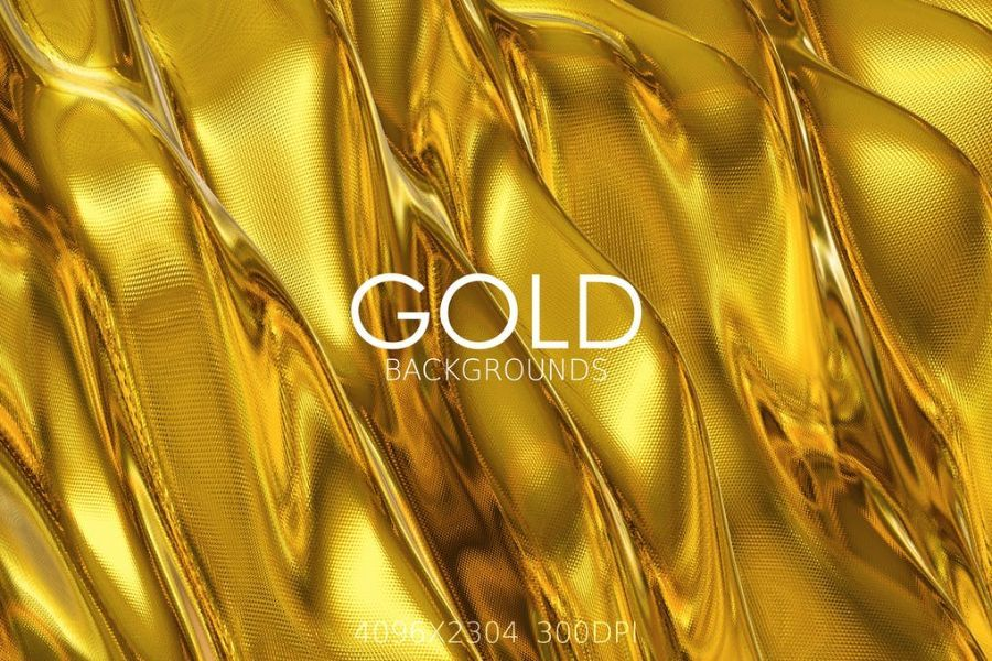 6 Gold Backgrounds