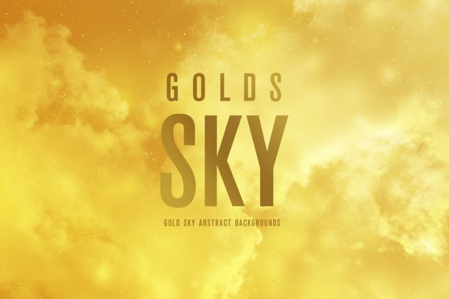 Gold SKY Abstract