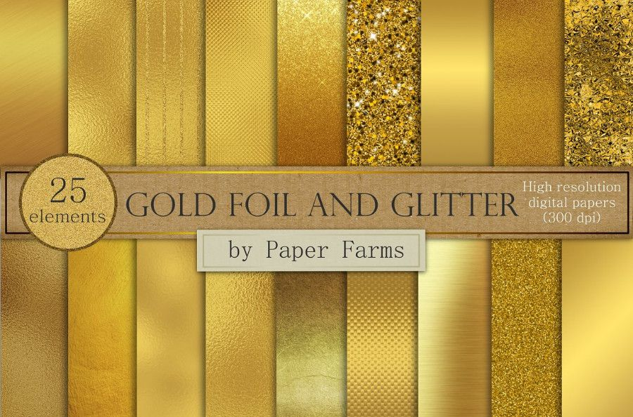 GoldFoilGlitterPaperForms