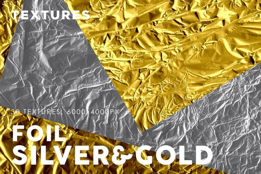 Silver and Gold Foil Textures