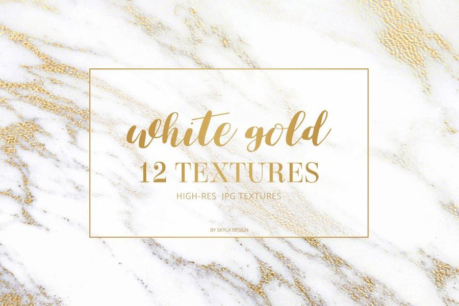 White gold marble texture